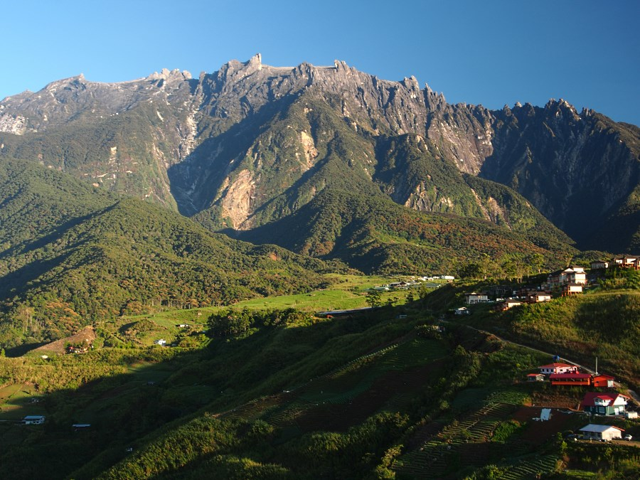 Mount Kinabalu, the highest mountain in the Malay Archipelago.
