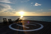 The helipad also doubles as a deck to enjoy the sunset.