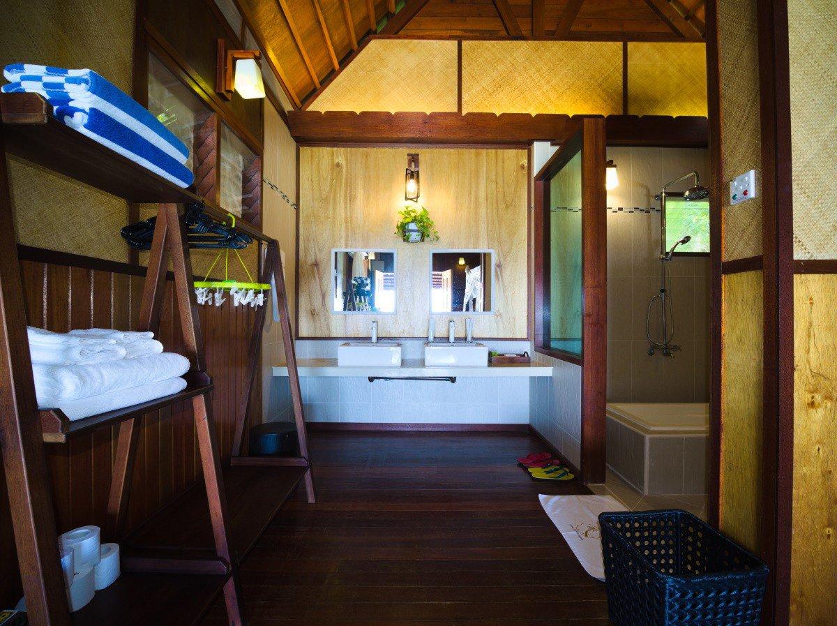 Design B Beach Chalet washroom.