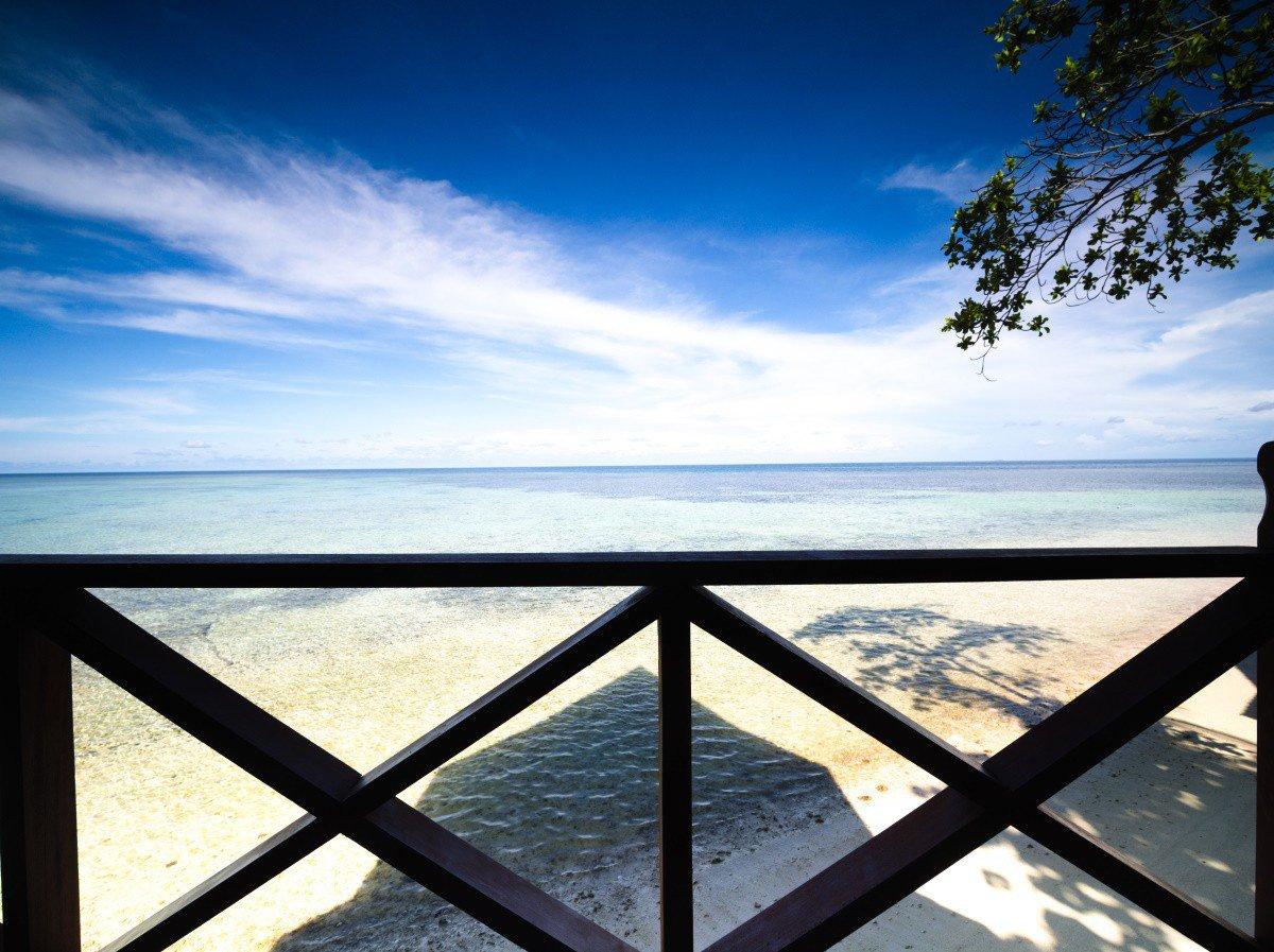 Design C Beach Chalet balcony view.