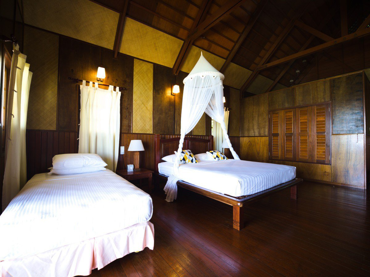 Design C Beach Chalet can accommodate up to 3 persons.