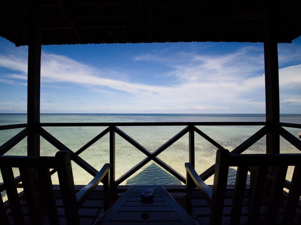 Design D Beach Chalet balcony view.