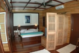 Bougain Villa Suite, for the ultimate in privacy and exclusivity. There is only one suit at this resort. Shown here is the bedroom.
