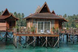 There are only 15 bungalows at this resort.