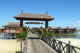 Entrance to Mabul Water Bungalows.