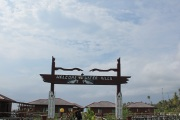 Entrance arch to the Water Villas.