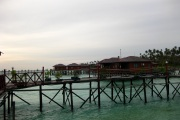 Water Villas are located over water.