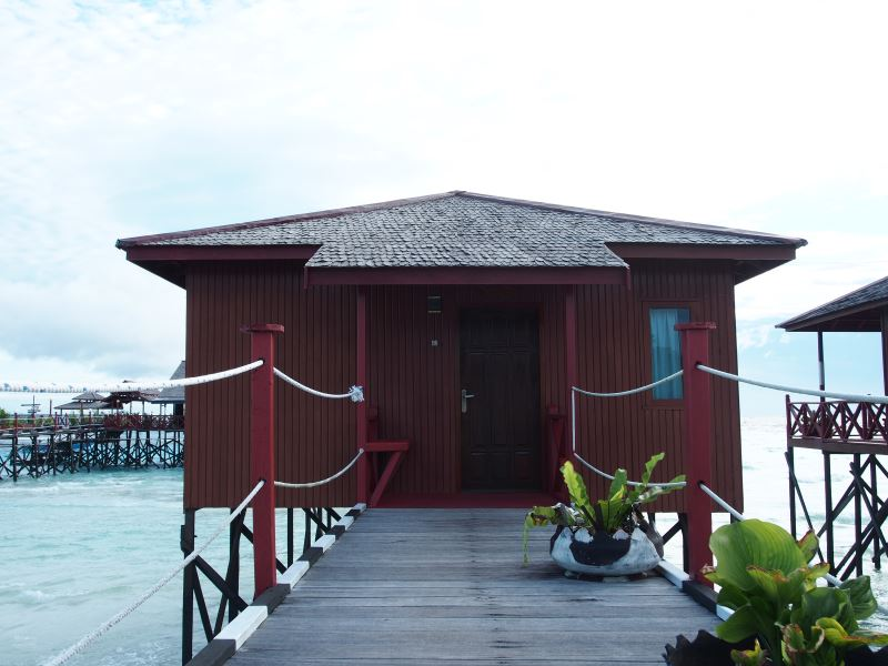Water Villa entrance.