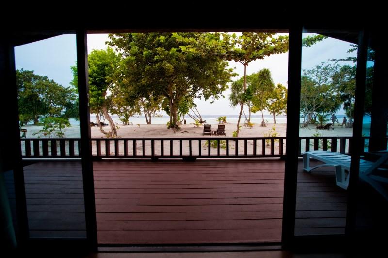 Beach Villa view from balcony.