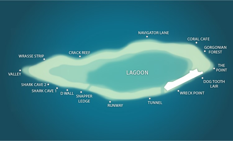 Layang Layang Island Map of Dive Sites