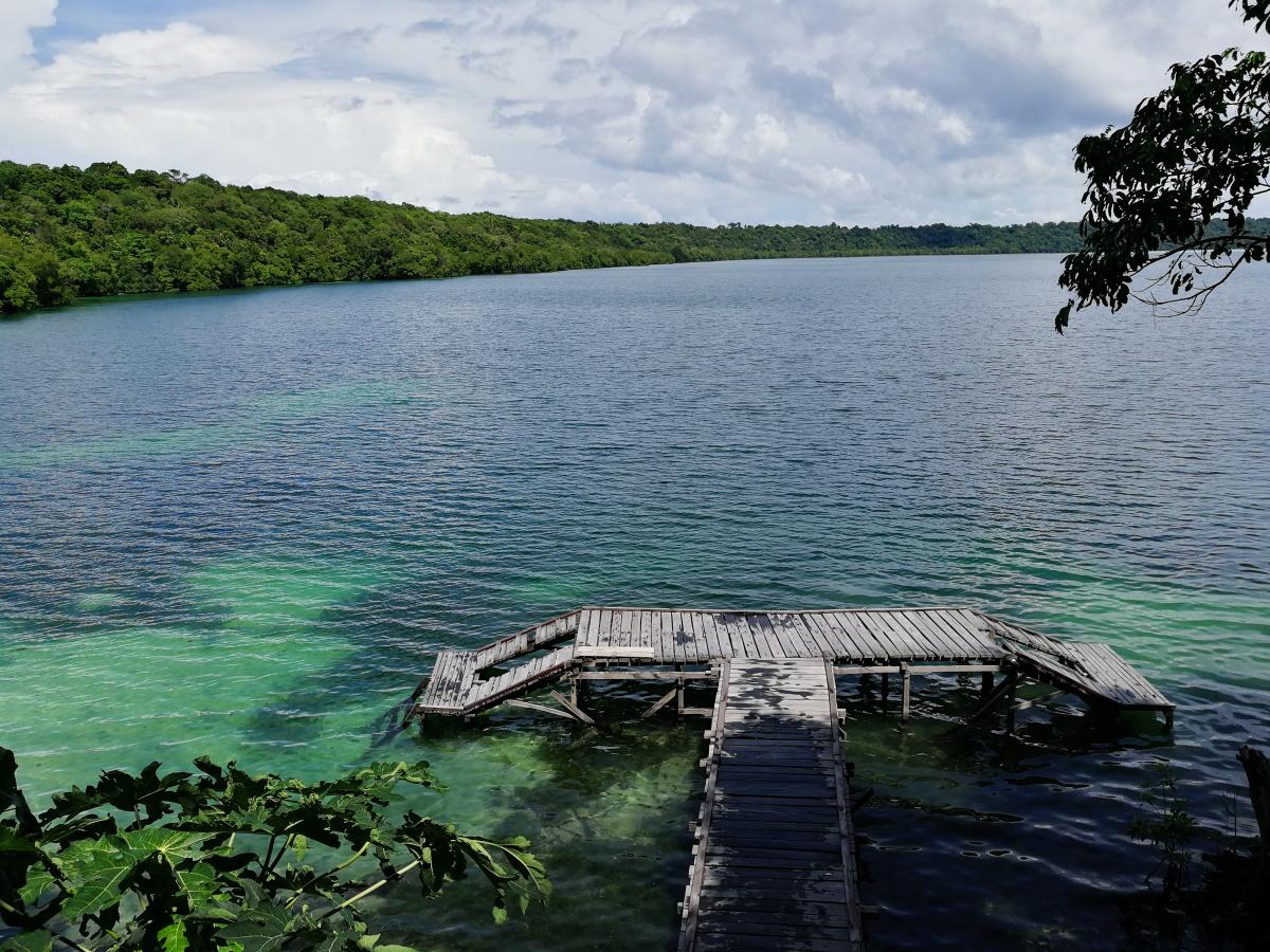Kakaban lake jetty.